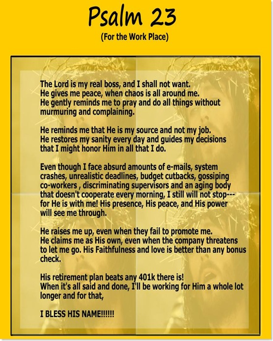 psalm 23 for the workplace